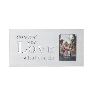 Melannco Sentiment Box 'Do What You Love What You Do' Wood 4 x 6 Picture Frame