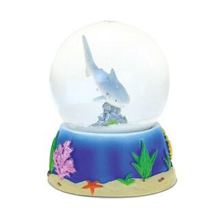 Puzzled 65mm Resin Shark Stone Finish Snow Globe