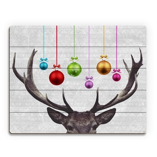 Ornam-antlers' Printed Wood Wall Art