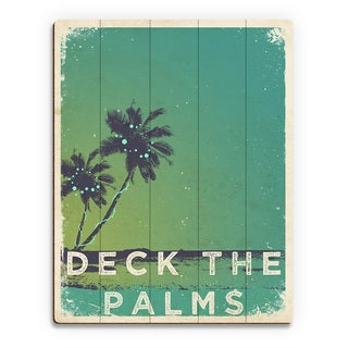 Deck the Palms' Minty Green Printed Wood Wall Art