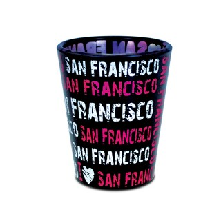 Puzzled I Love San Francisco Pink Shot Glass