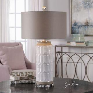Uttermost Athilda Gloss White Table Lamp