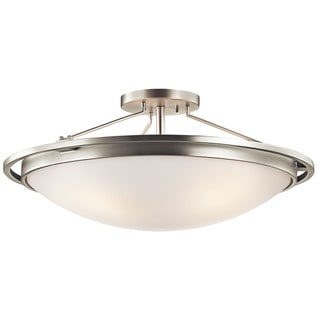 Kichler Lighting Transitional 4-light Brushed Nickel Semi Flush Mount