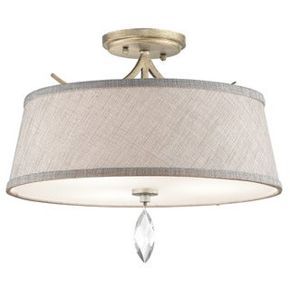 Kichler Lighting Casilda Collection 3-light Sterling Gold Semi Flush Mount