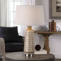 Uttermost Belser Brown Glaze Table Lamp
