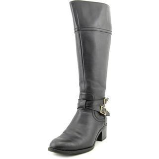 Franco Sarto Women's Lapis Wide Calf Black Leather Boots