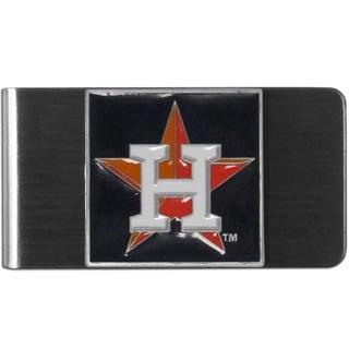 Siskiyou MLB Houston Astros Stainless Steel Sports Team Logo Money Clip