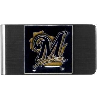 Siskiyou MLB Milwaukee Brewers Black/Gold Steel Money Clip