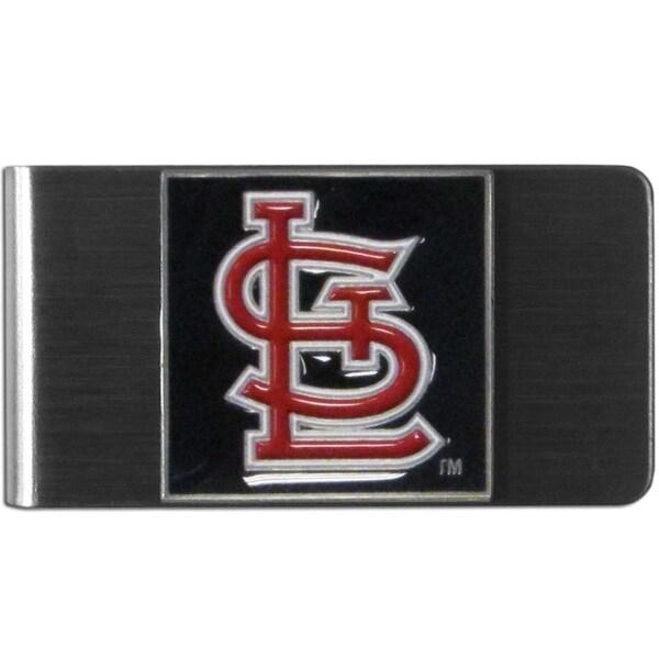 Siskiyou MLB Stainless Steel St. Louis Cardinals Sports Team Logo Money Clip