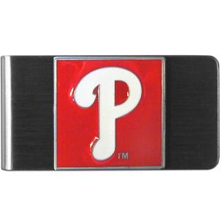 MLB Philadelphia Phillies Sports Team Logo Steel Money Clip