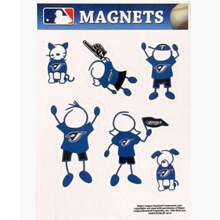 Siskiyou MLB Toronto Blue Jays Sports Team Logo Family Magnet Set