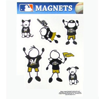 Siskiyou MLB Milwaukee Brewers Sports Team Logo Family Magnet Set