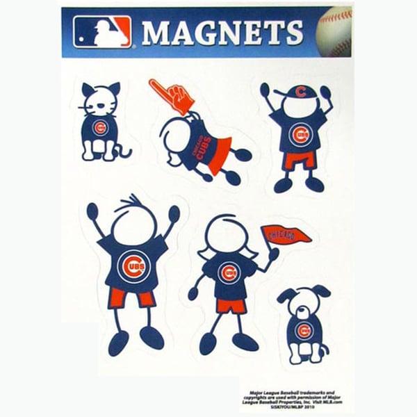 Siskiyou MLB Chicago Cubs Sports Team Logo Family Magnet Set