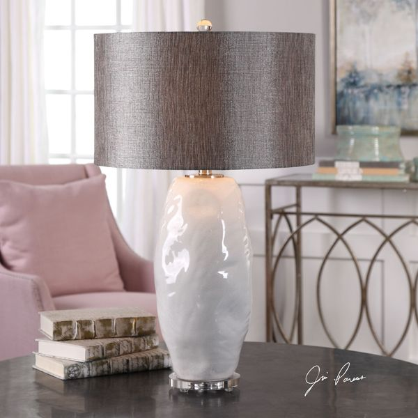 Uttermost Assana Gloss White Table Lamp
