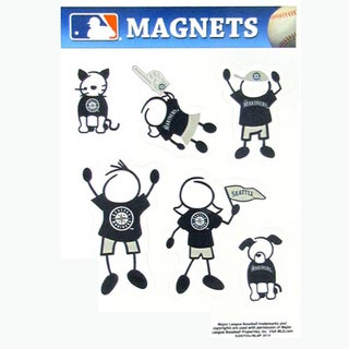 Siskiyou MLB Seattle Mariners Sports Team Logo Family Magnet Set