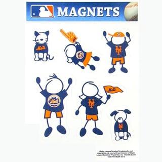Siskiyou MLB New York Mets Sports Team Logo Family Magnet Set