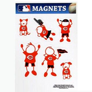 Siskiyou MLB Cincinnati Reds Sports Team Logo Family Magnet Set