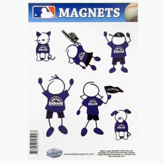 Siskiyou MLB Colorado Rockies Multicolored Family Magnet Set