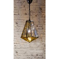 Cleveland Mercury Glass Antique Bronze Single-Light Chandelier