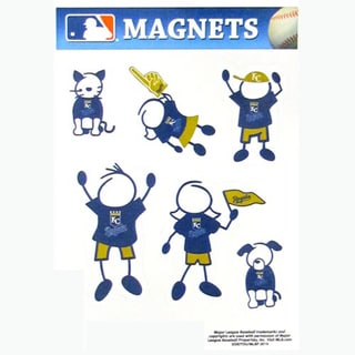 Siskiyou MLB Kansas City Royals Sports Team Logo Family Magnet Set