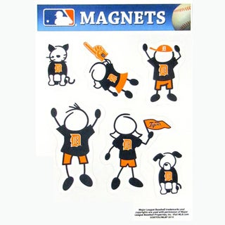 MLB Detroit Tigers Sports Team Logo Family Magnet Set