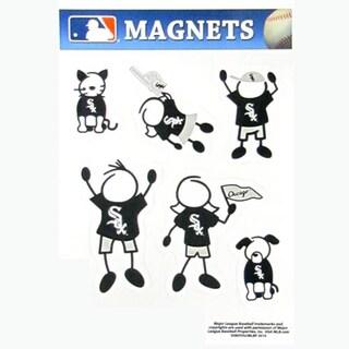 Siskiyou MLB Chicago White Sox Black/White Family Magnet Set