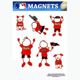 Siskiyou MLB Arizona Diamondbacks Sports Team Logo Family Magnet Set