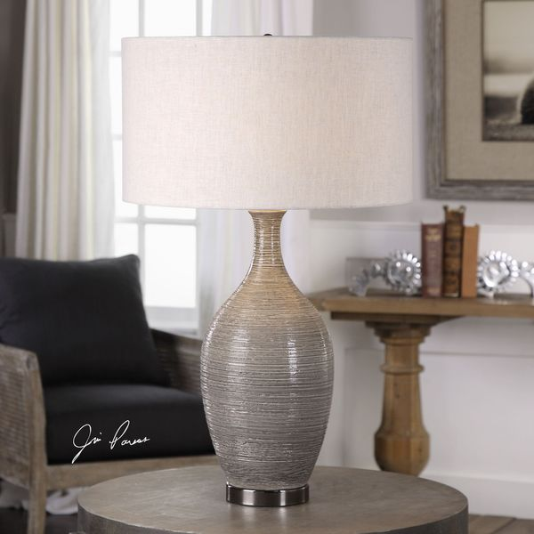 Uttermost Dinah Grey Textured Table Lamp