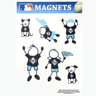 Siskiyou MLB Tampa Bay Rays Sports Team Logo Multicolored Family Magnet Set