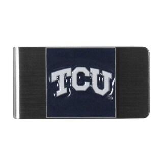 Siskiyou College NCAA TCU Horned Frogs Sports Team Logo Steel Money Clip