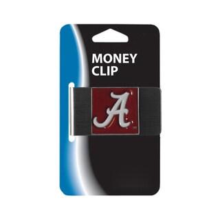 Siskiyou NCAA Alabama Crimson Tide Stainless Steel Sports Team Logo Money Clip