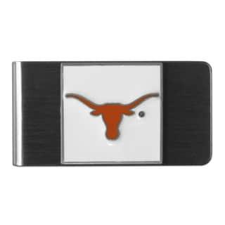 Siskiyou College NCAA Texas Longhorns Orange/White/Grey Steel Money Clip