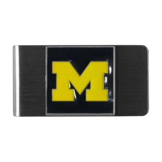 Siskiyou College NCAA Michigan Wolverines Sports Team Logo Steel Money Clip