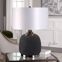 Uttermost Charna Charcoal Ceramic Table Lamp
