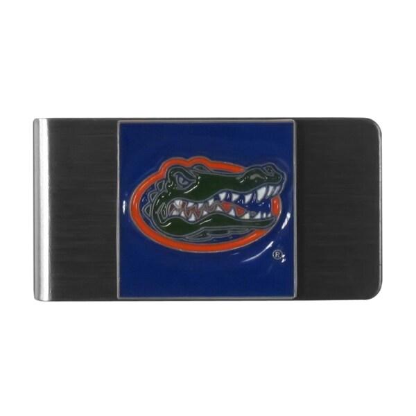 Siskiyou NCAA Florida Gators Stainless Steel Sports Team Logo Money Clip
