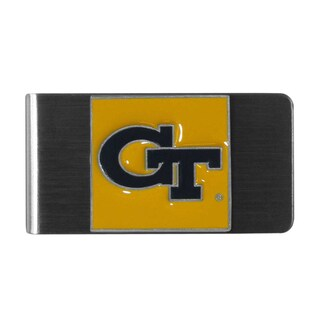 Siskiyou College NCAA Georgia Tech Yellow Jackets Sports Team Logo Steel Money Clip