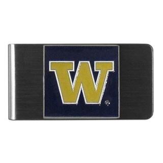 Siskiyou College NCAA Washington Huskies Steel Sports Team Logo Money Clip
