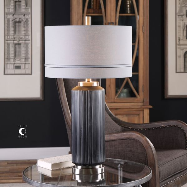 Uttermost Akila Charcoal Glass Table Lamp