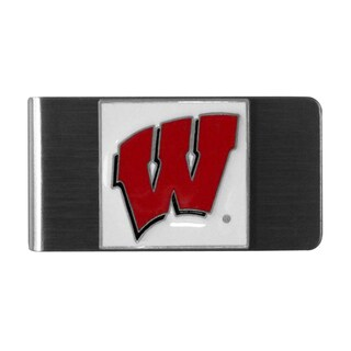 Siskiyou College NCAA Wisconsin Badgers Sports Team Logo Steel Money Clip