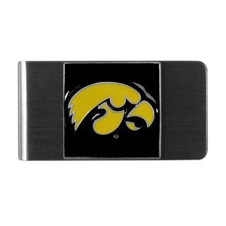 Siskiyou College NCAA Iowa Hawkeyes Sports Team Logo Stainless Steel Money Clip