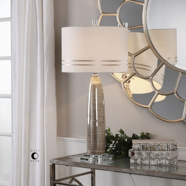 Uttermost Dima Light Brown Ceramic Lamp