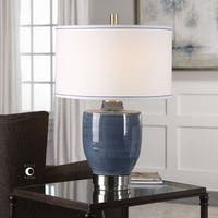 Uttermost Sylvaine Blue-Gray Glaze Lamp