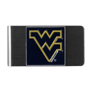 NCAA West Virginia Mountaineers College Sports Team Logo Steel Money Clip