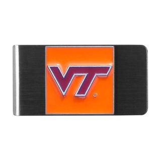 Siskiyou NCAA Virginia Tech Hokies Stainless Steel Sports Team Logo Money Clip