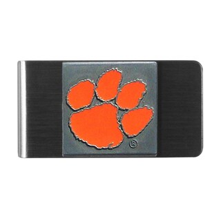 Siskiyou NCAA Clemson Tigers Stainless Steel Sports Team Logo Money Clip