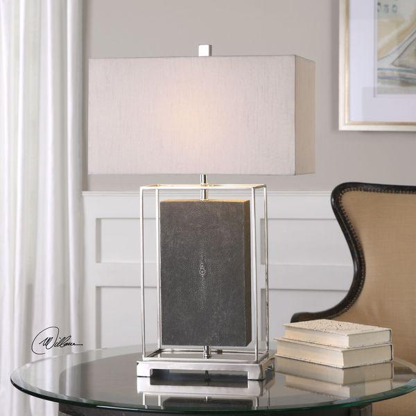 Uttermost Sakana Gray Textured Table Lamp