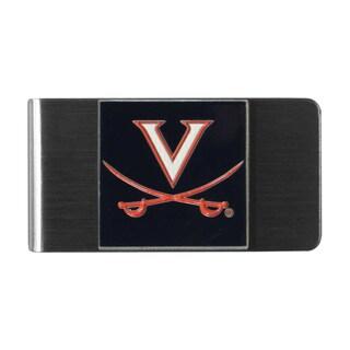 Siskiyou NCAA Virginia Cavaliers Stainless Steel Sports Team Logo Money Clip
