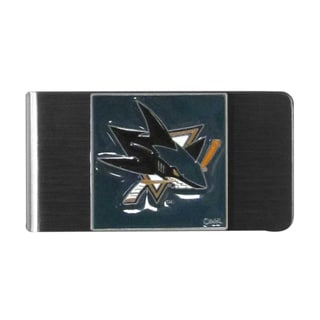 Siskiyou NHL San Jose Sharks Sports Team Logo Steel Money Clip