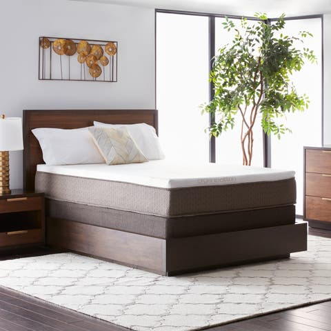 Natures Rest Summer Nights 11-inch Twin-size All Latex Mattress Set - White/Brown