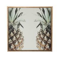 Sylvie Pineapple Gold Framed Canvas Wall Art